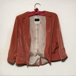Ali & Kris Satin Pink Blazer